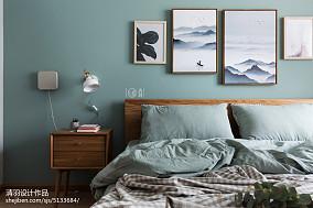 2018面积90平小户型卧室北欧实景图片欣赏