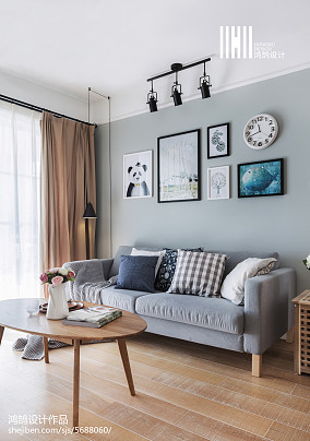 2018北欧二居客厅效果图片欣赏