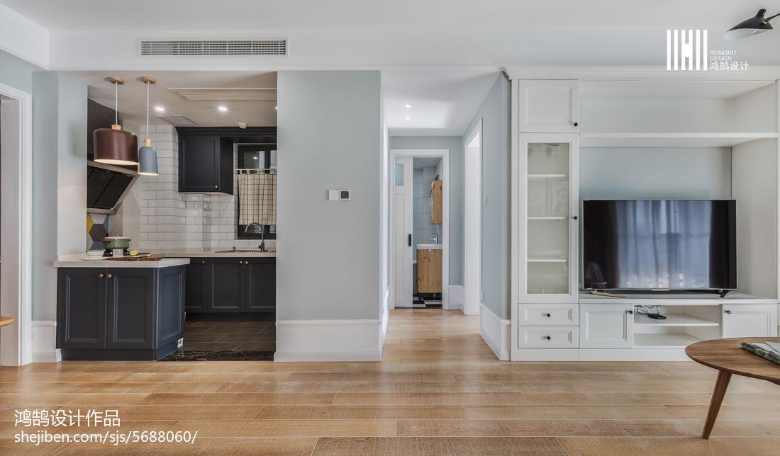 2018精选大小80平北欧二居客厅装修设计效果图片欣赏客厅