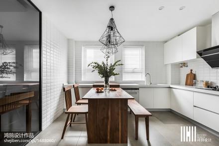 厨房餐厅一体设计效果图