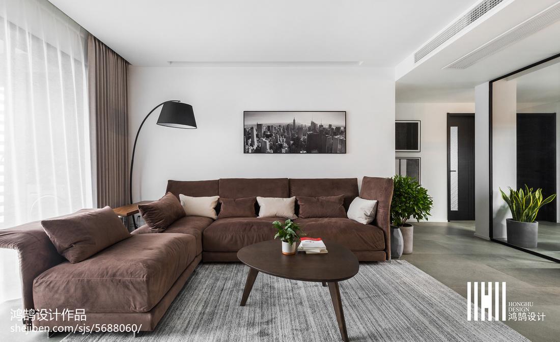 现代客厅沙发背景效果图客厅现代简约客厅设计图片赏析