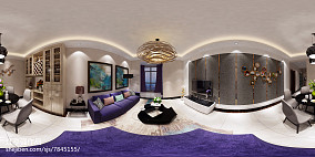 现代简约时尚二居室装修案例