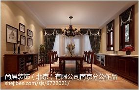 精美面积112平别墅客厅美式装修实景图