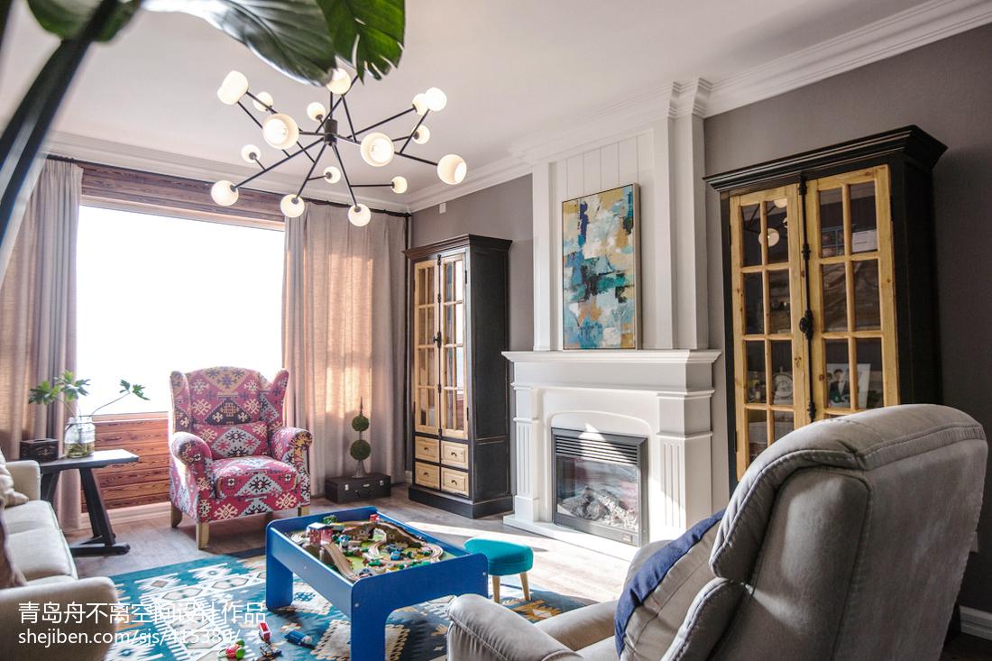精美122平米四居客厅混搭装修实景图片大全客厅