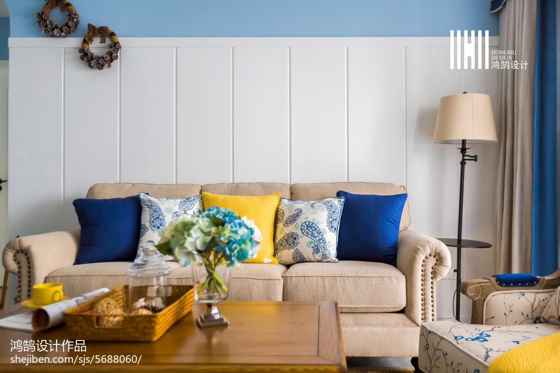 2018大小100平美式三居客厅欣赏图片大全客厅美式经典客厅设计图片赏析