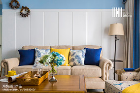 2018大小100平美式三居客厅欣赏图片大全
