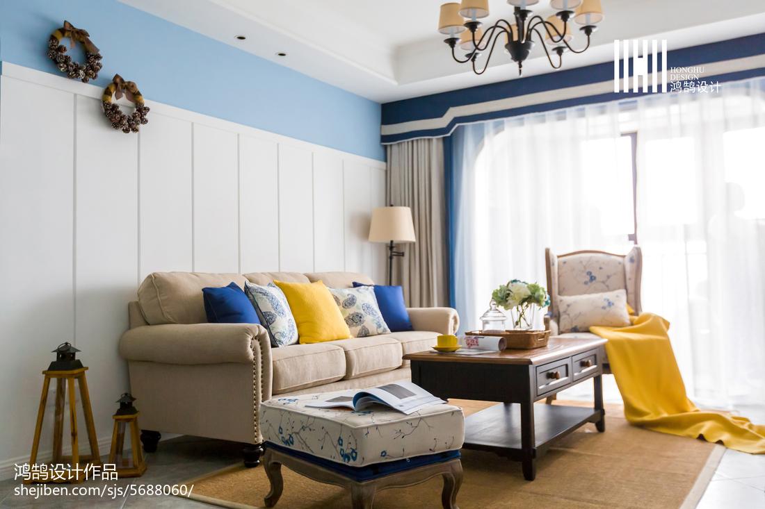 精选92平米三居客厅美式装修效果图片大全客厅