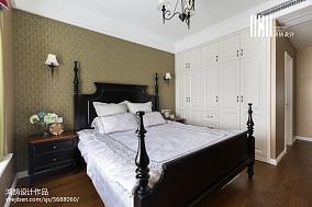 精选104平米三居卧室美式效果图片