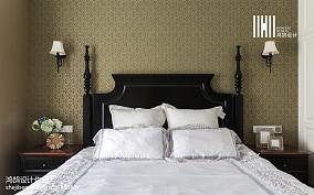精美104平米三居卧室美式装饰图片