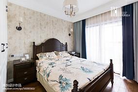 2018精选面积104平美式三居卧室装饰图