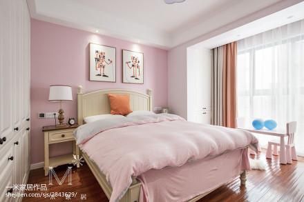 精美美式二居儿童房装修设计效果图卧室