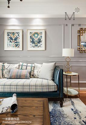 精选二居客厅美式效果图片大全81-100m²二居美式经典家装装修案例效果图