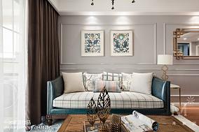 精选面积79平美式二居客厅效果图片81-100m²二居美式经典家装装修案例效果图