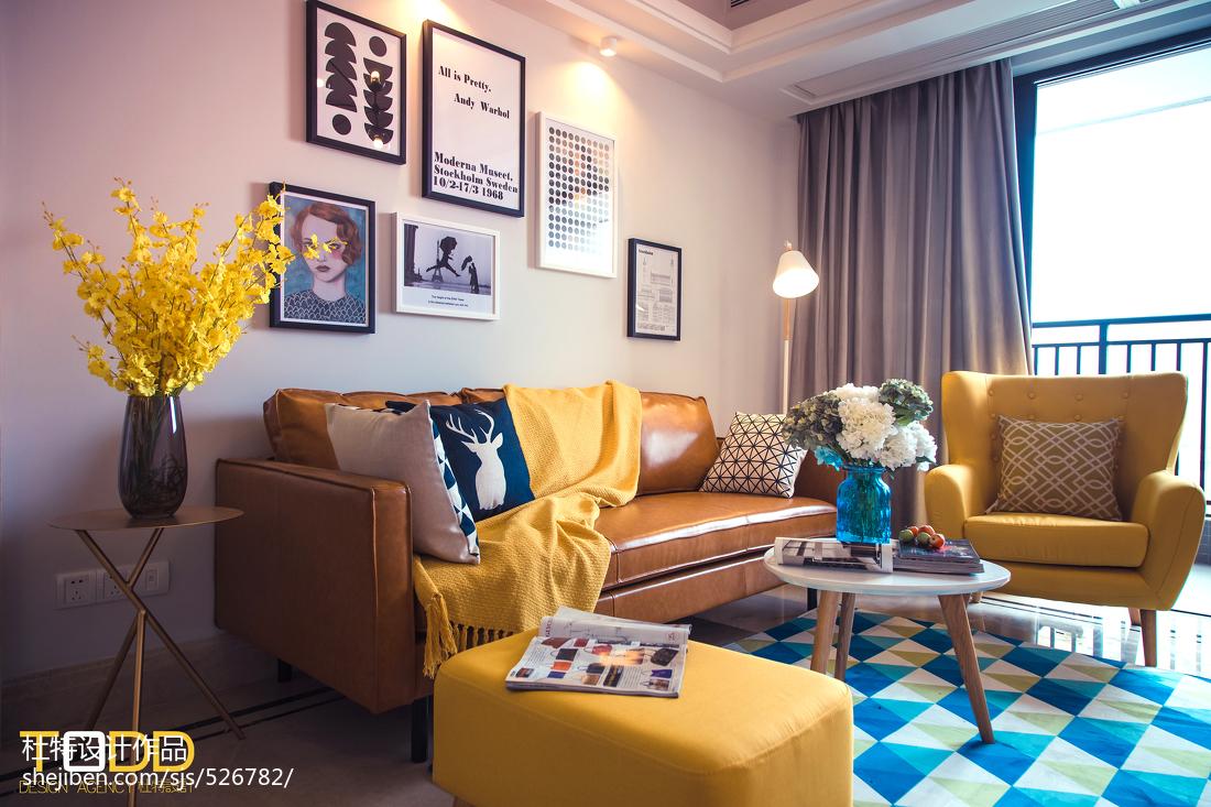 时尚客厅装饰画客厅北欧极简客厅设计图片赏析