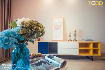 201888平米二居客厅北欧装饰图片大全