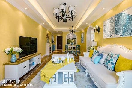 精美客厅地中海实景图片样板间地中海家装装修案例效果图