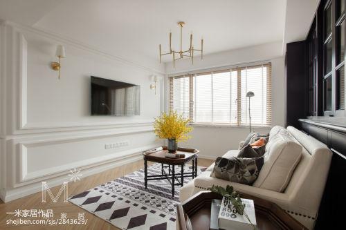 精美97平米三居客厅美式实景图客厅窗帘