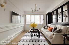精美面积108平美式三居客厅装修欣赏图片三居美式经典家装装修案例效果图