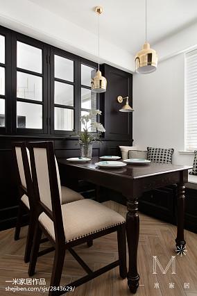 精选94平米三居餐厅美式效果图三居美式经典家装装修案例效果图