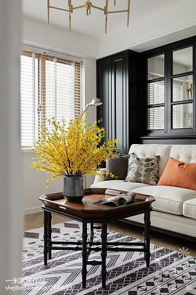 温馨121平美式三居客厅效果图欣赏家装装修案例效果图