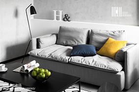 温馨71平北欧二居客厅布置图二居北欧极简家装装修案例效果图