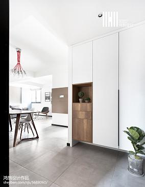 北欧风格二居室玄关装修二居北欧极简家装装修案例效果图