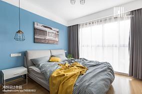二居卧室北欧装饰图片欣赏二居北欧极简家装装修案例效果图