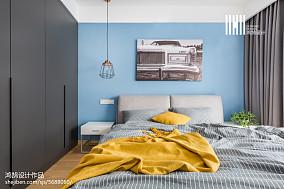 热门面积79平北欧二居卧室效果图片欣赏二居北欧极简家装装修案例效果图