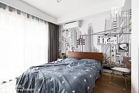 面积77平北欧二居儿童房实景图片大全二居北欧极简家装装修案例效果图