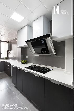 2018面积77平北欧二居厨房装修图二居北欧极简家装装修案例效果图