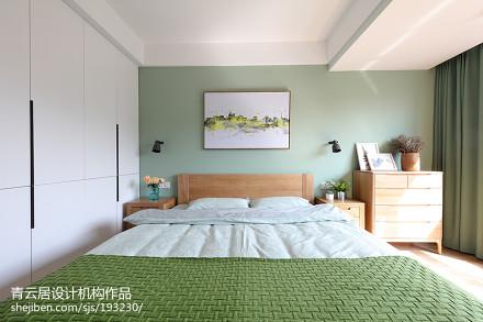 精美面积97平简约三居卧室实景图片大全卧室