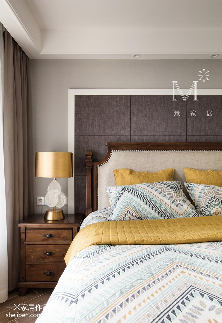 精美103平方三居卧室混搭设计效果图卧室