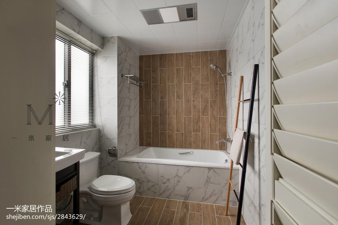 热门109平米三居卫生间混搭装修欣赏图片卫生间