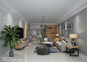 2018精选面积99平宜家三居客厅装修设计效果图片