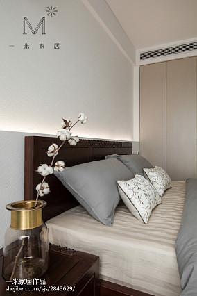 2018面积91平中式三居卧室装修效果图三居中式现代家装装修案例效果图