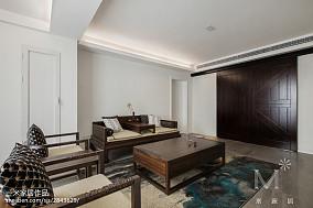 精美大小109平中式三居客厅效果图片三居中式现代家装装修案例效果图