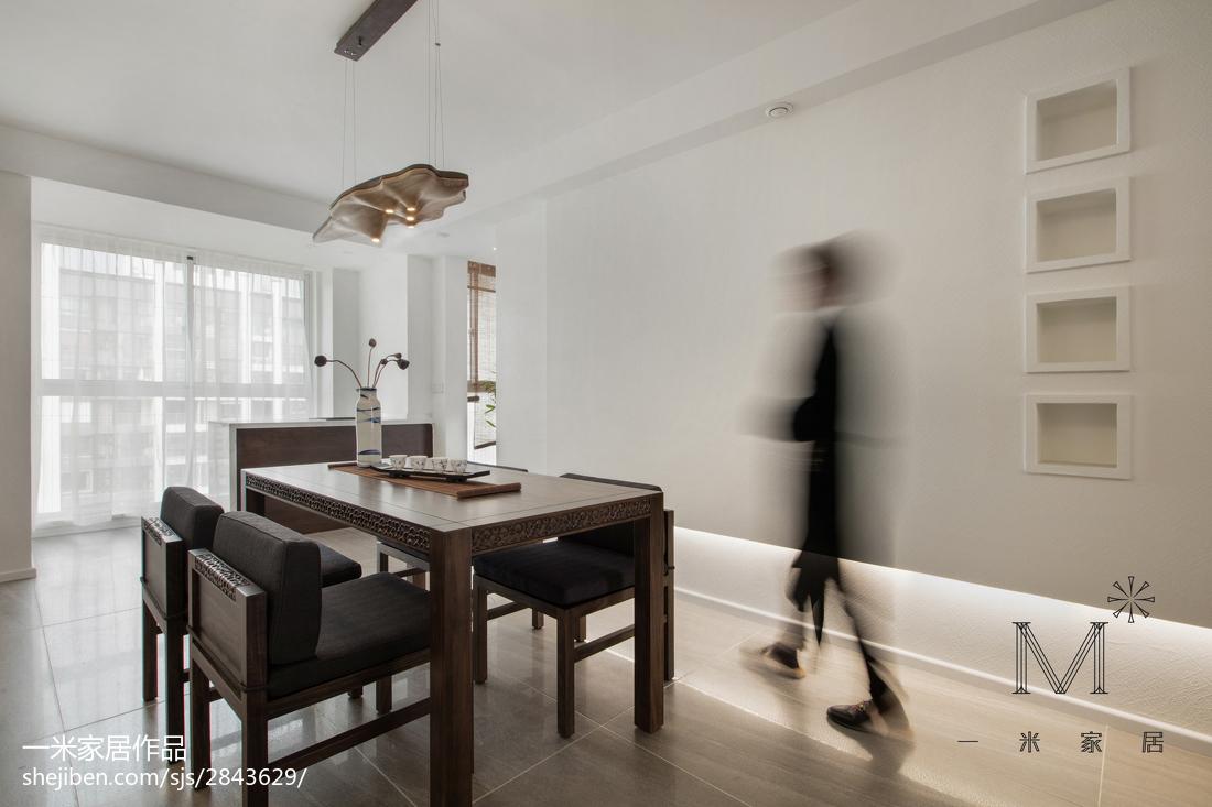 明亮90平中式三居餐厅装修图片厨房中式现代餐厅设计图片赏析
