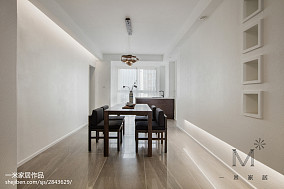 精美面积109平中式三居餐厅装修欣赏图片三居中式现代家装装修案例效果图
