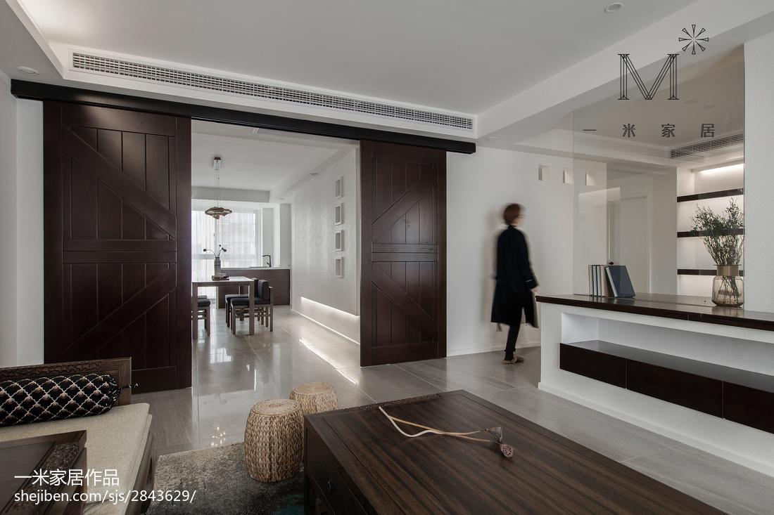 精选面积92平中式三居客厅装修图片三居中式现代家装装修案例效果图