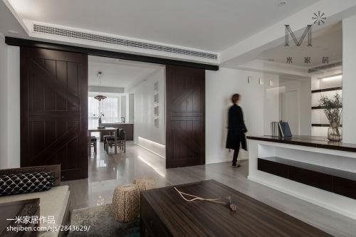 精选面积92平中式三居客厅装修图片121-150m²三居中式现代家装装修案例效果图