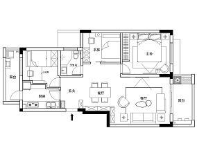 精美109平方三居客厅现代装修效果图片大全