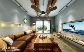 现代简约电视墙造型效果图
