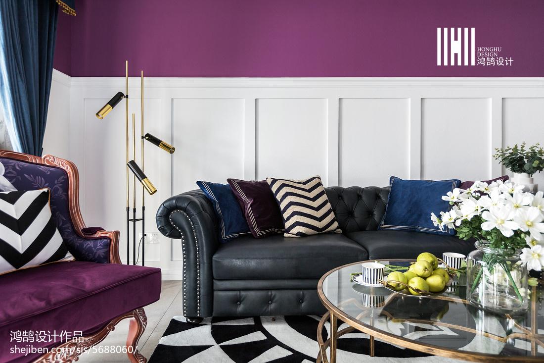 面积75平美式二居客厅效果图片客厅