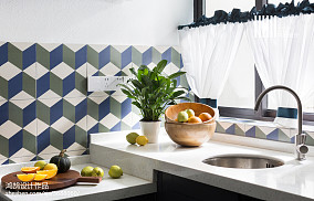 优雅62平美式二居厨房图片欣赏二居美式经典家装装修案例效果图