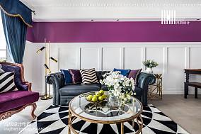 2018精选面积85平美式二居客厅效果图二居美式经典家装装修案例效果图