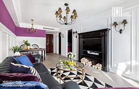 201888平米二居客厅美式效果图片欣赏