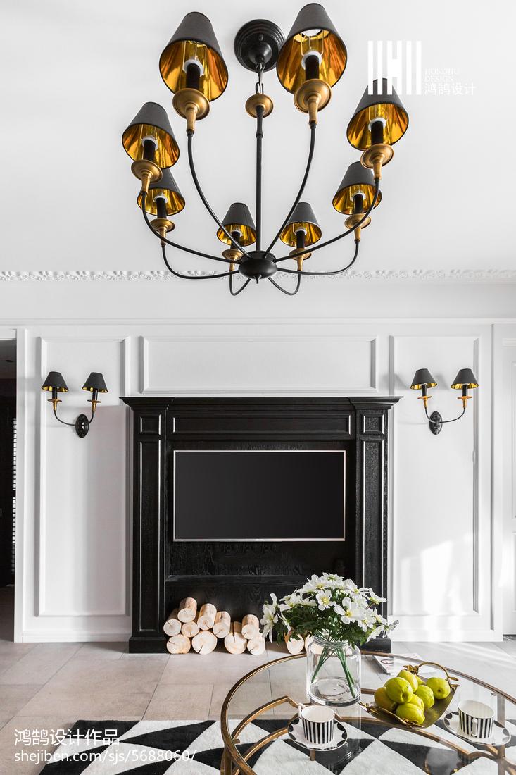 精选面积75平美式二居客厅装修图片欣赏客厅美式经典客厅设计图片赏析