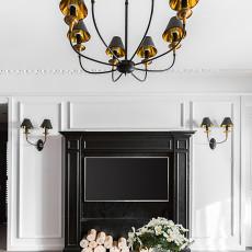 精选面积75平美式二居客厅装修图片欣赏