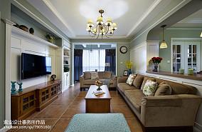 精选96平米三居客厅美式效果图片
