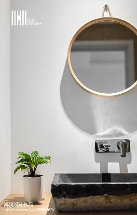 热门面积91平现代三居卫生间装饰图片欣赏